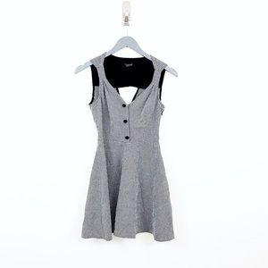 TOPSHOP Gingham Checkered Black White Sundress